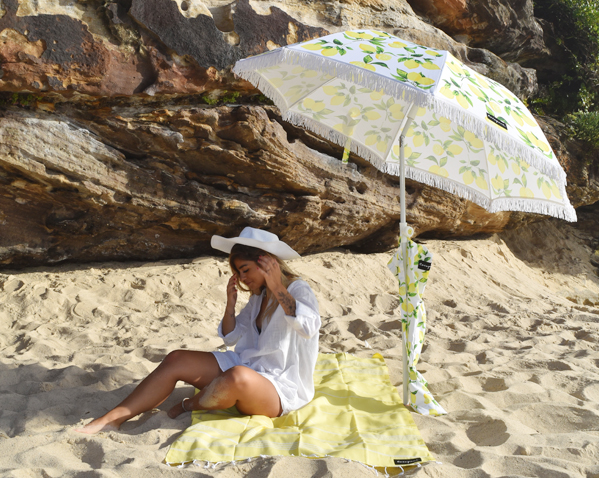 Limoncello Beach Umbrella